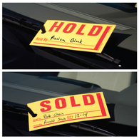 Sold/Hold Windshield Tags