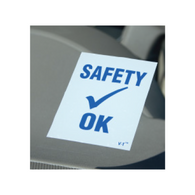 Safety Check OK Static Cling Stickers