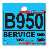 Custom Service Department Hang Tags