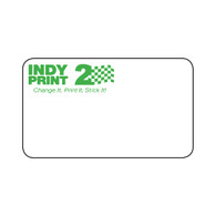 INDY Print 2– Custom One Color Logo – Green