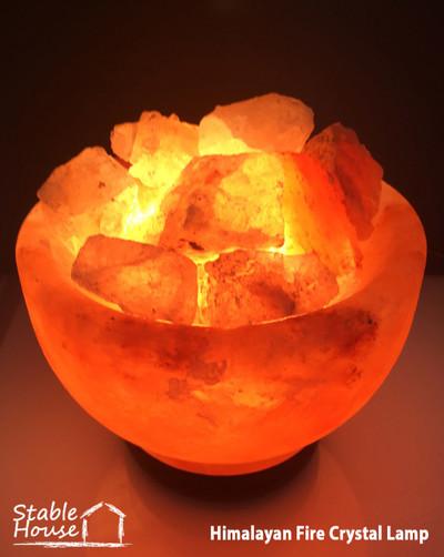Himalayan Fire Crystal Lamp