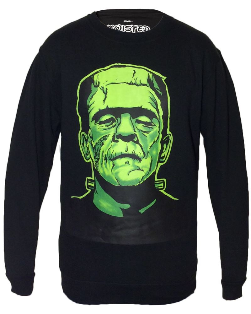 Twisted Black Frankenstein Sweatshirt Sweater