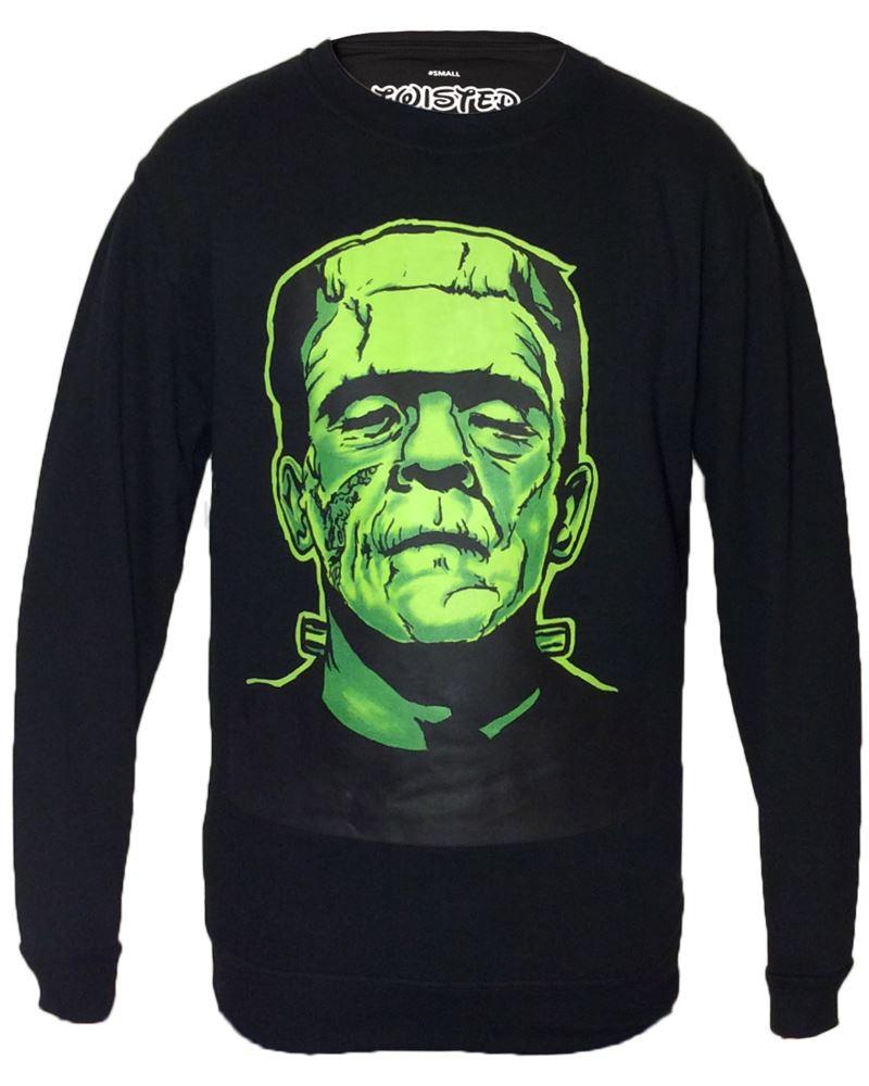 Twisted Black Frankenstein Sweatshirt Sweater