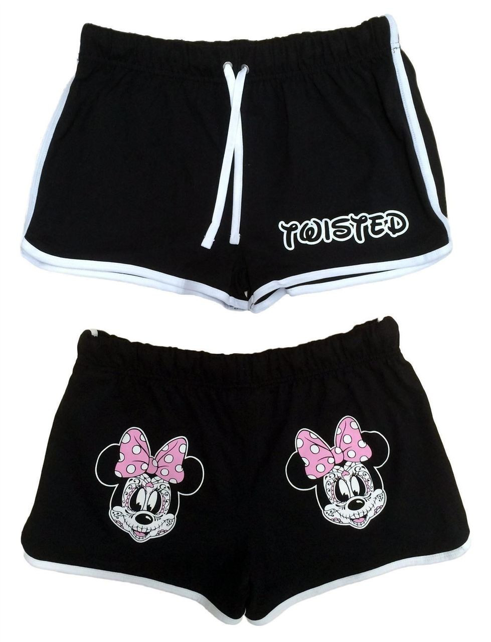 Twisted Minnie Day Of The Dead High Waisted Retro Shorts