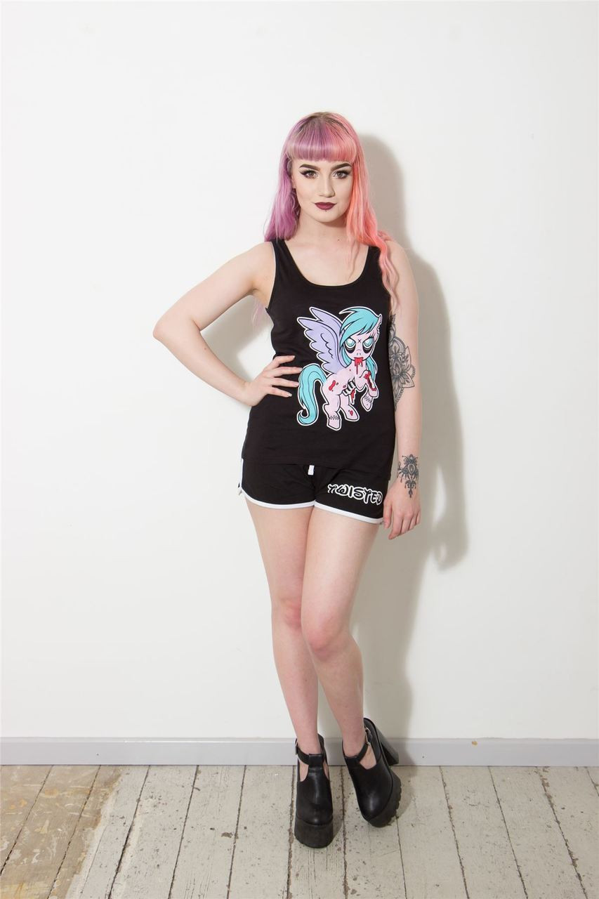Twisted apparel alternative zombie pony tank top