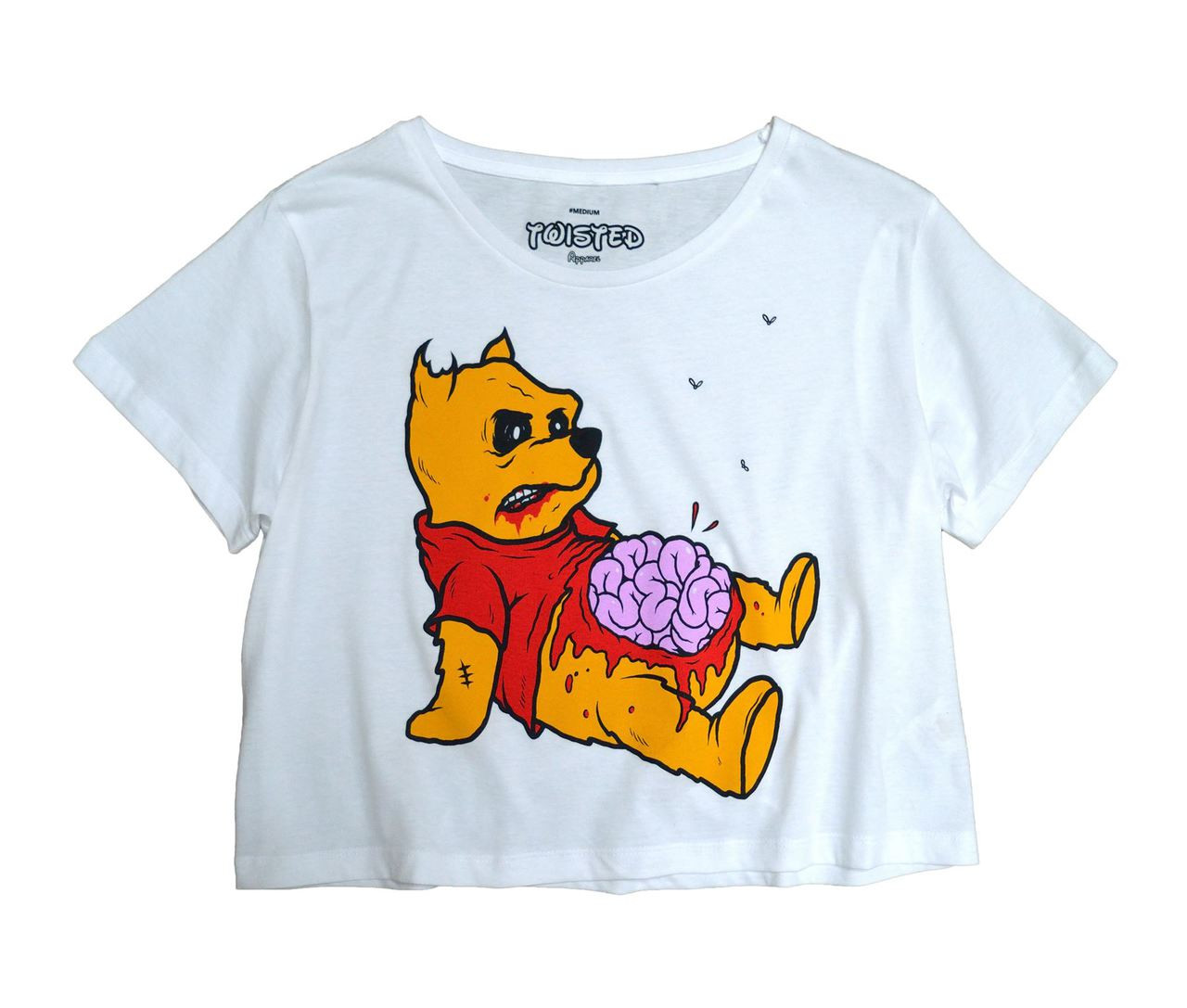 Twisted Zombie Pooh Crop Top T Shirt