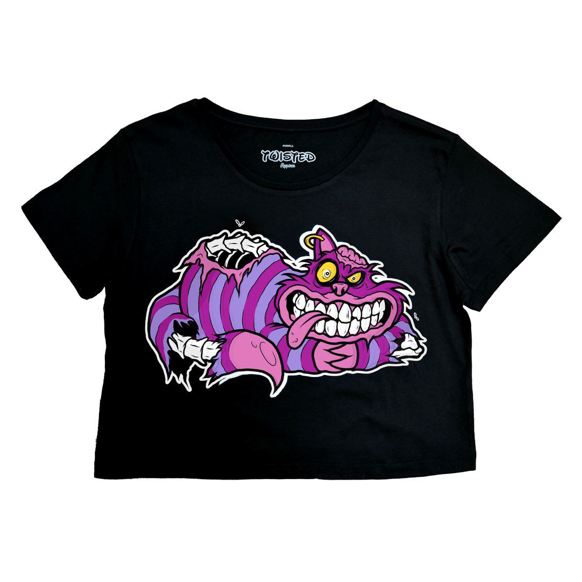 Twisted Chesire Cat Crop Top T shirt