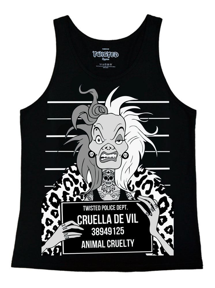 Cruella Mugshot Ladies Vest Top
