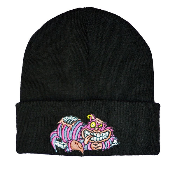 Twisted apparel gothic zombie chesire cat black beanie hat