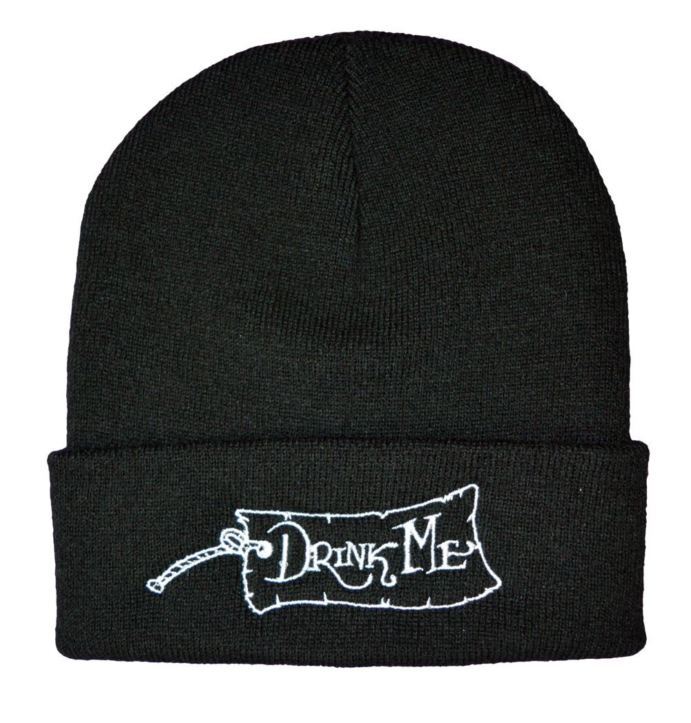 Twisted Apparel Alice in wonderland drink me beanie hat