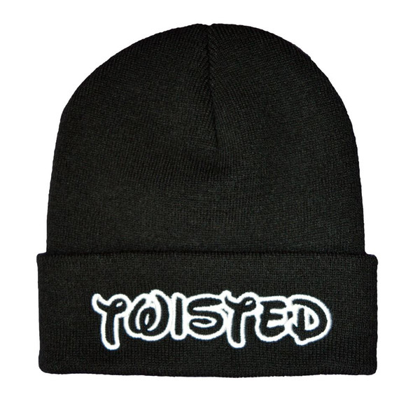 Twisted apparel logo winter beanie hat