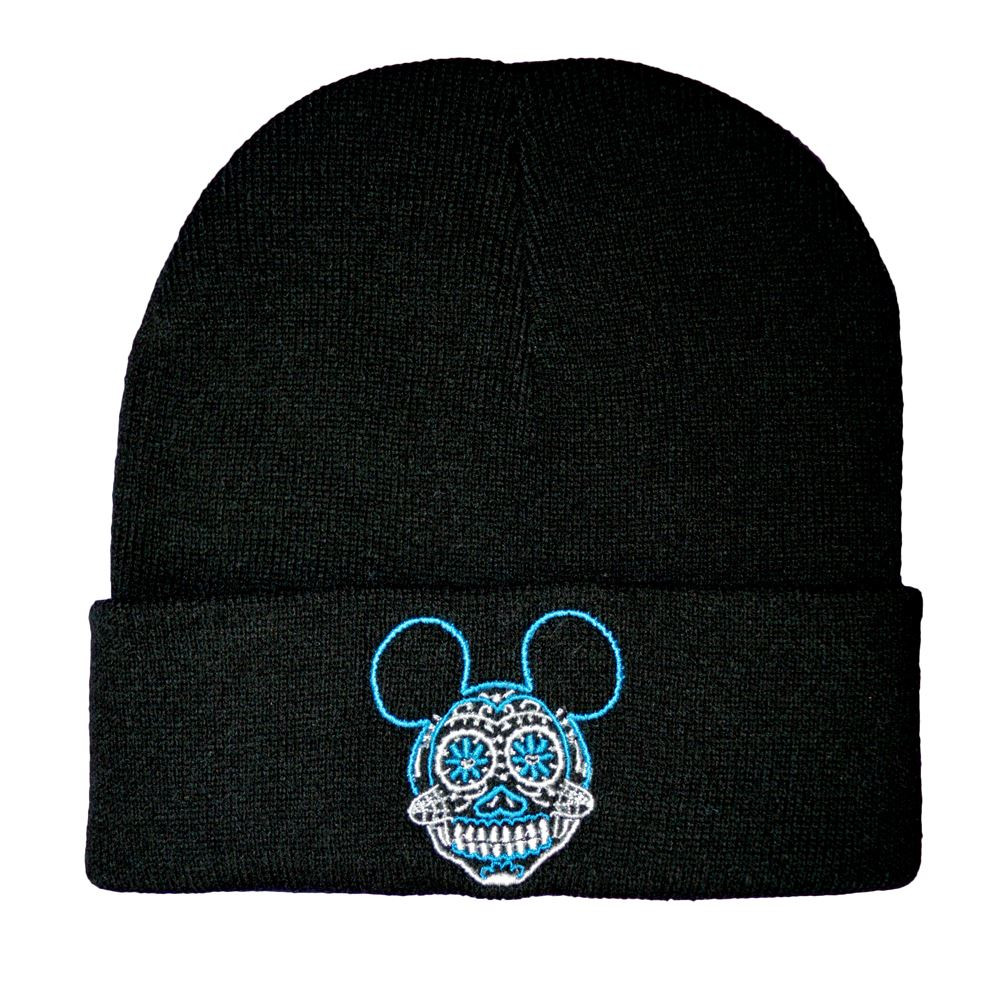 Twisted mickey sugar skull beanie hat