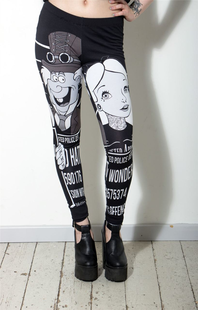 Alice Mugshot Tattoo Leggings
