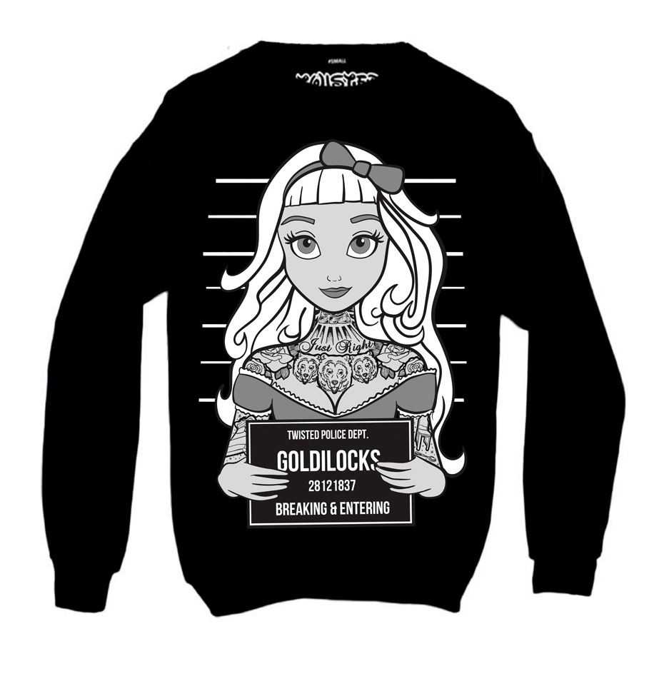 Goldilocks Tattoo Mugshot Sweatshirt