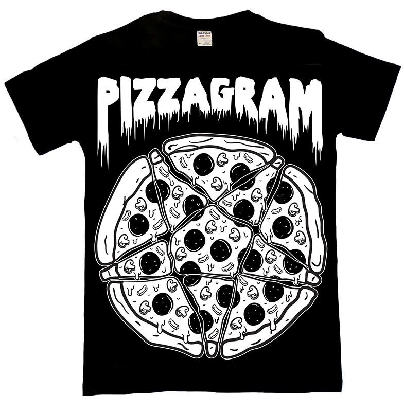 Pizzagram Pentgram T Shirt