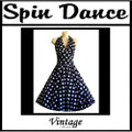 Spin Dance Full Circle Black and White Polka Dot Halter Dress
