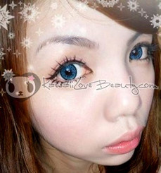 Super Nudy Blue XCH-622 circle lenses.