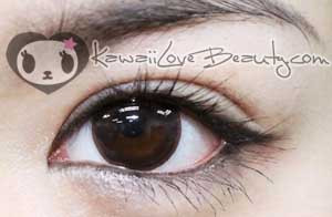 Natural black brown circle lenses by Geo, BC102