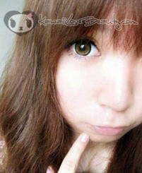 Geo XCH-624 Super Nudy Brown circle lenses on model