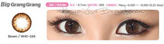 Geo WCH244 Big Grang Grang Brown circle lenses.