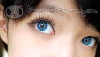 Vibrant blue with YH-301 Blue color contacts by Geo.