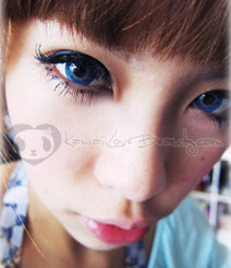 Geo Twins Blue YH301 circle lenses.
