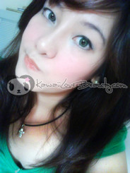 Geo YH303 Twins Green circle lenses.