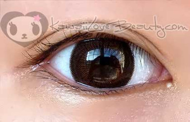 Deep brown, dolly eyes with Geo HC106 Choco Brown circle lenses.