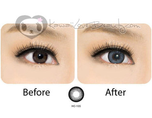 Before and after Geo HC105 Hurricane Gray circle lenses