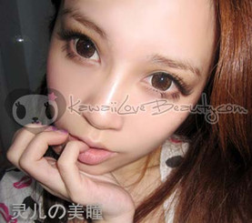 Geo Flower WFLA54 Brown circle lenses for bigger, more attractive eyes.