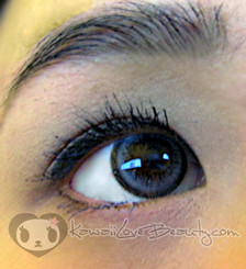 Geo Ash Wing Grey OL105 contact lens closeup.