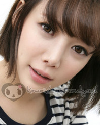 BS-204 Geo Bella Brown 14.2mm colored contact lenses on model.