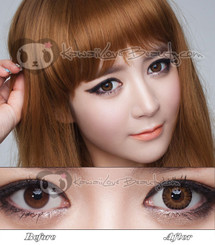 Geo CM954 Berryholic Brown colored circle contact lenses.