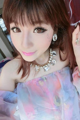 CM958 Berry Holic 14.2mm brown circle lenses by Geo.