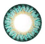 Design detail of CM957 Geo Berry Holic Aqua colored contacts/ circle lenses.