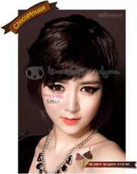 XMUA16 Geo Chocomousse Brown circle colored contacts