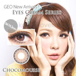 Eyes Cream Chocomousse Brown circle lenses by Geo Medical