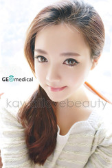 Naturally beautiful color change with Geo Eyes Cream Vanilla Brown circle lenses