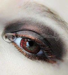 Beautiful deep red eyes with WCH628 Red colored contacts.