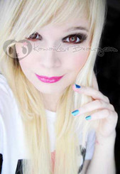 Geo Xtra Nudy Red WCH628 soft colored contact lenses.