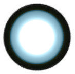 Geo WIA22 Sakura Blue circle lens design detail.