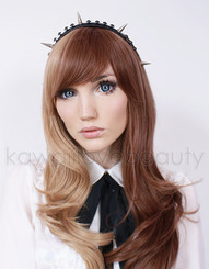Sakura blue 14.8mm circle lenses on model with light blue eyes.