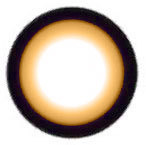 Geo WIA24 Sakura Brown circle lens design detail.
