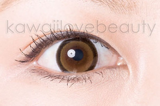 Close-up of brown WIA24 circle lens.