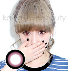 Geo Sakura 14.8mm pink circle lenses
