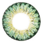 Geo WTB73 Xtra 3-Tone Green colored contact lens design detail.