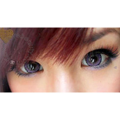Xtra Tricolor Berry Violet colored contact lenses close-up.