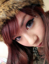 Get purple dolly eyes with Geo Xtra 3-Tone violet circle lenses.