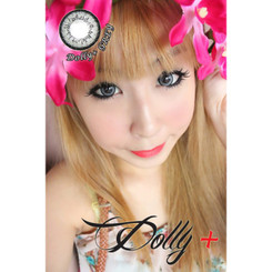 Pretty doll eyes with Dolly Grey circle lenses.