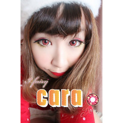 Get dramatic dolly eyes with Cara Red circle lenses.
